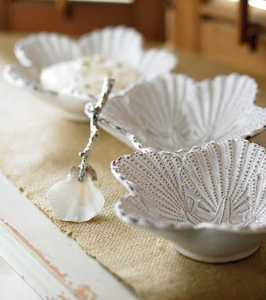 Shell Triple Dip Set - By the Sea Beach Decor