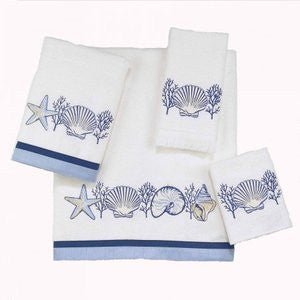 Nassau White Beach Bath Towel Collection