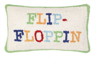 Flip-Floppin' Beach Decor Throw Pillow