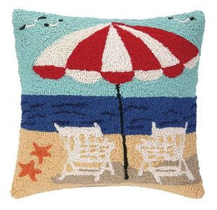 Beach Getaway Hook Pillow - By the Sea Beach Decor