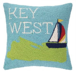 Key West Hook Pillow - By the Sea Beach Decor