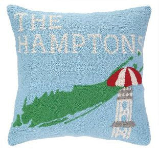 The Hamptons Coastal Throw Pillow