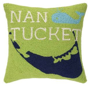 Nantucket Beach Decor Throw Pillow