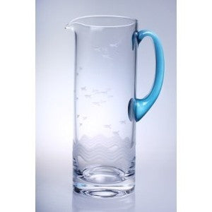 Seabreeze Glass Pitcher - By the Sea Beach Decor