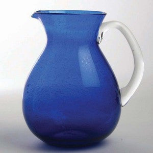 Beach Glassware Cobalt Bubble Glass Pitcher