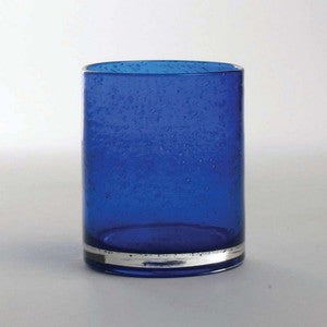 Coastal Glassware Cobalt Bubble Glass Tumbler Set