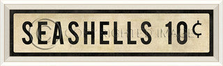 Coastal Sign Seashells Sign - By the Sea Beach Decor