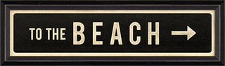 Coastal Sign To the Beach Right Arrow - By the Sea Beach Decor
