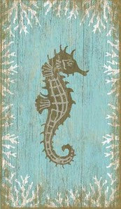 Seahorse Facing Right - By the Sea Beach Decor