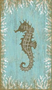 Seahorse Facing Left - By the Sea Beach Decor