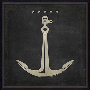 Anchor 2 Framed Art - By the Sea Beach Decor