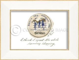 Beach Tag 1981 Framed Art - By the Sea Beach Decor
