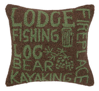Lodger's Script Hook Beach Throw Pillow