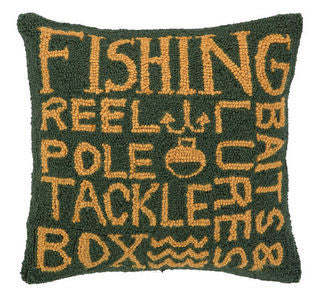 Fisherman's Script Coastal Accent Hook Pillow