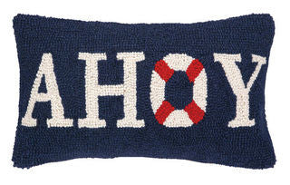 AHOY Beach Decor Hook Pillow