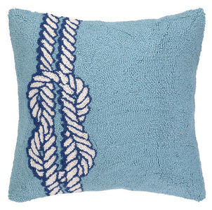 Nautical Knot Hook Pillow - By the Sea Beach Decor
