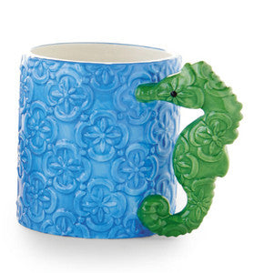 Seahorse Coastal Decor Mug - By the Sea Beach Decor