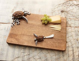 Turtle Cutting Board Coastal Entertaining