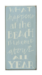 What Happens at the Beach Sign - By the Sea Beach Decor
