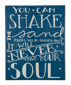 Shake the Sand Coastal Decor Sign - By the Sea Beach Decor