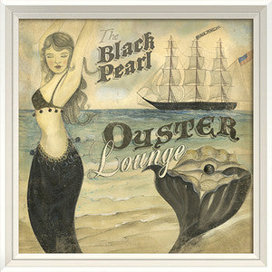 Black Pearl Oyster Beach Poster Print Artwork