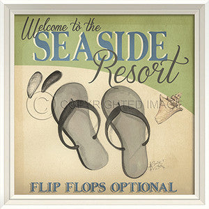 Beach Poster Seaside Resort Print Artwork - By the Sea Beach Decor