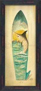 Marlin Surfboard Print Beach Artwork