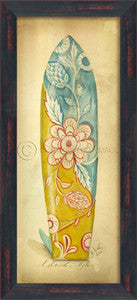 Island Style Floral Surfboard Print Surf Artwork