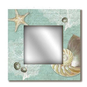 Nautilus Coastal Decor Mirror - By the Sea Beach Decor