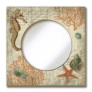 Vintage Seahorse Mirror - By the Sea Beach Decor