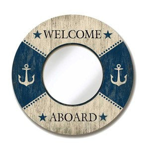 Welcome Aboard Mirror - By the Sea Beach Decor