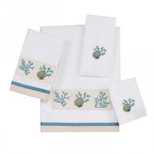 Cayman White Coastal Towel Collection - By the Sea Beach Decor