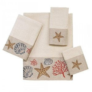 Treasures from the Sea Ivory Coastal Towel Collection - By the Sea Beach Decor