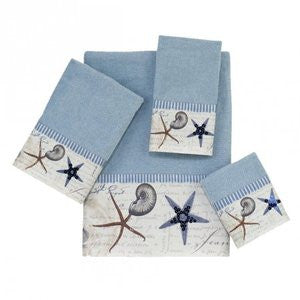 Antigua Blue Fog Coastal Bath Towel Collection