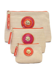 Orange/Pink Sand Dollar Bag Set