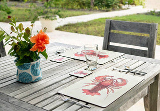 Lobster Hard Placemat Set - By the Sea Beach Decor