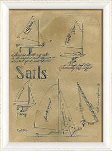 Sail Sails Framed Art - By the Sea Beach Decor
