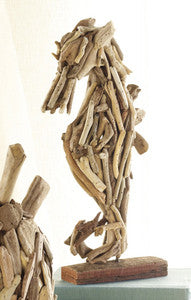 Driftwood Seahorse Sculpture - By the Sea Beach Decor