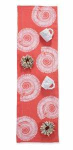 Coastal Table Runner Coral Linen
