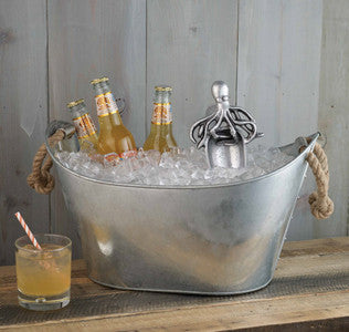 Rope Handle Beverage Tub - By the Sea Beach Decor