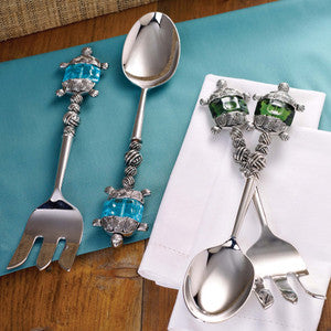 Sealife Salad Servers Coastal Entertaining