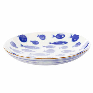 Beach Decor Serveware Blue Fish Pasta Bowl