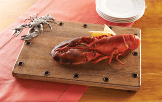 Lobster Art Cutting Board - By the Sea Beach Decor