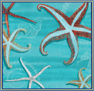 Beach Entertaining Sea Star Starfish Lacquer Serving Tray