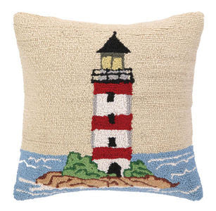 Beach Lighthouse Hook Pillow