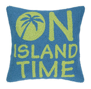 Island Time Hook Pillow - By the Sea Beach Decor
