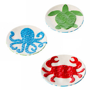 Sealife Dessert Plate Set Coastal Dinnerware