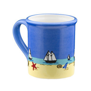 Yellow Puppy Coastal Mug