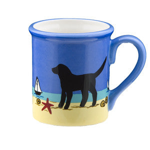 Black Puppy Mug - By the Sea Beach Decor