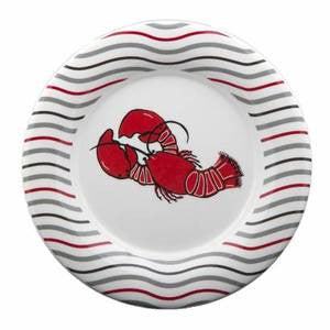 Lobster Wave Salad/Dessert Plate - By the Sea Beach Decor